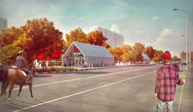 Дизайн станции метро «Солнцево» © Nefa Architects