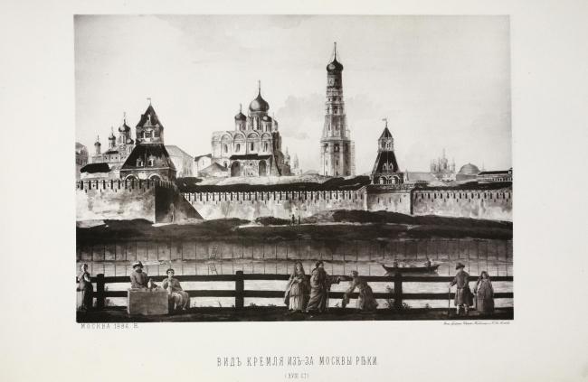 Деревянные набережные Москвы-реки в XVIII столетии. Изображение с сайта www.nevsepic.com.ua