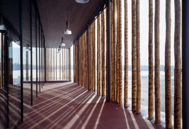 Супермаркет MPREIS в Нидерндорфе. Архитектор Петер Лоренц © Thomas Jantscher