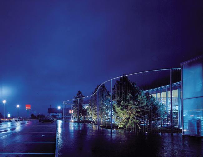 Супермаркет MPREIS в Ваттенсе. Архитектор Доминик Перро © Gunter R. Wett