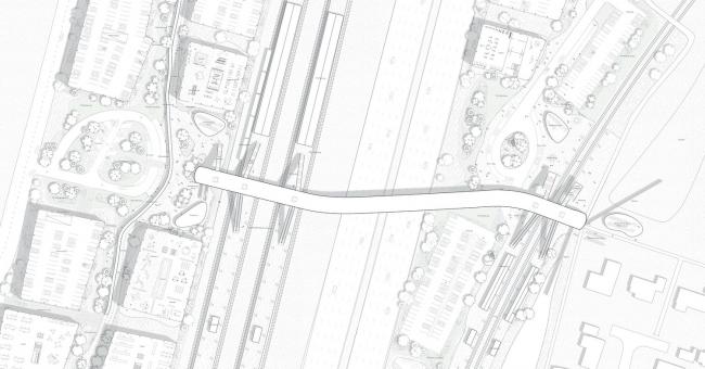 Северный вокзал города Кёге, план участка © COBE, DISSING+WEITLING architecture