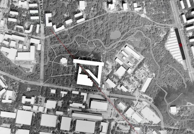 Градостроительный макет. Многофункциональный комплекс и Центр художественной гимнастики © АБ Остоженка