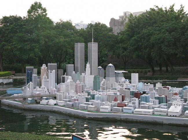 Парк развлечений «Окно в мир» в Шэньчжэне. Макет Манхэттена. Фото: Affablebeef. Лицензия Creative Commons Attribution-Share Alike 3.0 Unported