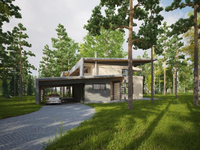 """Типовой дом """"Delta-250"""" © компания NEWOOD"""