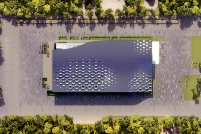Концепция реконструкции бассейна «Лужники» © Arch Group