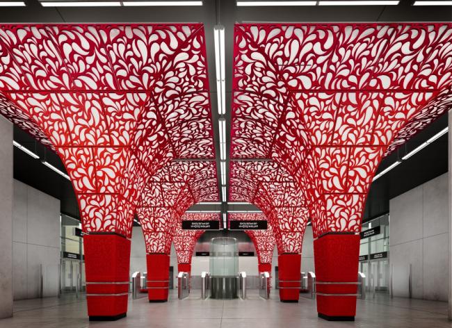 Станция «Новопеределкино». Конкурсный проект. Gerber Architekten. 2014 © Стройкомплекс Москвы