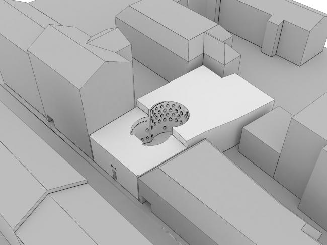 Конкурсный проект на концепцию Дома Мельникова © Arch Group