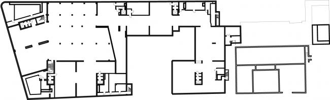 Жилой комплекс на ул. Остоженка. План подземного этажа © АБ Остоженка