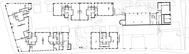 Жилой комплекс на ул. Остоженка. План 1 этажа © АБ Остоженка
