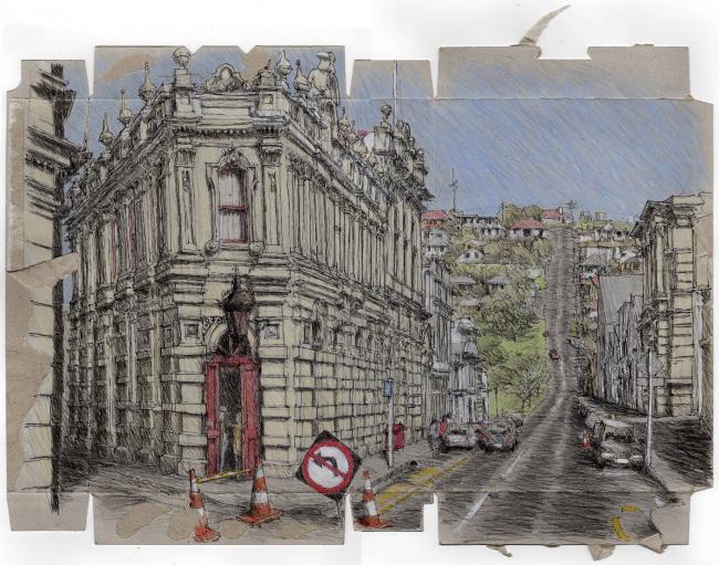 Финалист в категории «Путевой рисунок. Профессионалы». Peter Rush. Иллюстрация: krobarch.com