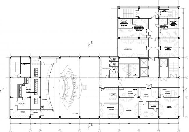 План 8-го этажа. Диспетчерский центр МОЭСК © Arch Group
