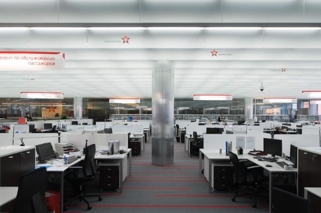 Зона open space. Офис компании «Аэроэкспресс» © Arch Group