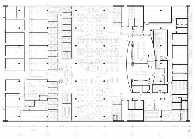 План. Офис компании «Аэроэкспресс» © Arch Group