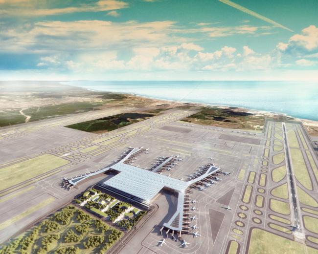 Новый аэропорт Стамбула © Grimshaw