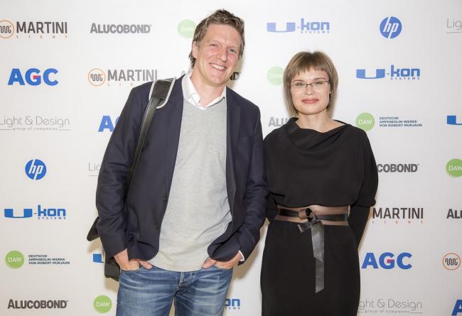 Маркус Аппенцеллер и Анна Мартовицкая на презентации журнала speech:метро, 21.11.2014 / предоставлено speech: