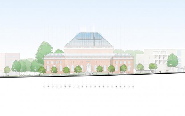 Музеи искусств Гарвардского университета – реконструкция © RPBW