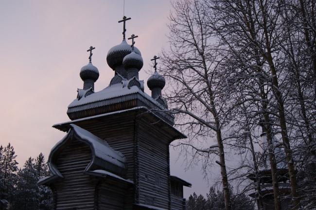 Вознесенская церковь. музей деревянного зодчества Малые Корелы. Фотография © Анна Петрова