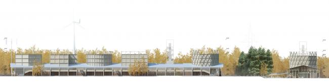 Фасады. Концепция Музея науки и техники в Томске © Студия 44