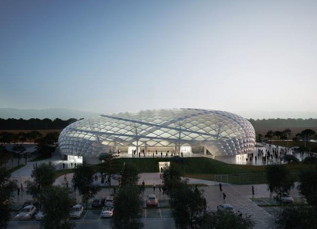 Проект спорткомплекса Ламеция-Терме © Vittorio Grassi Architetto & Partners