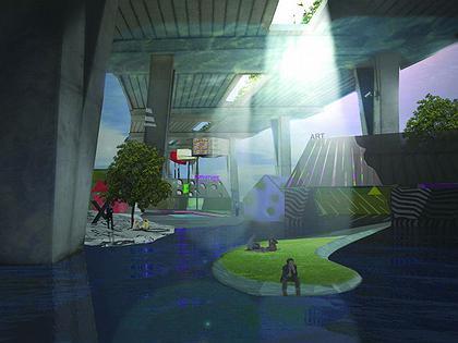Третий Город - проект регенерации района Кройдон. Пространство под эстакадой