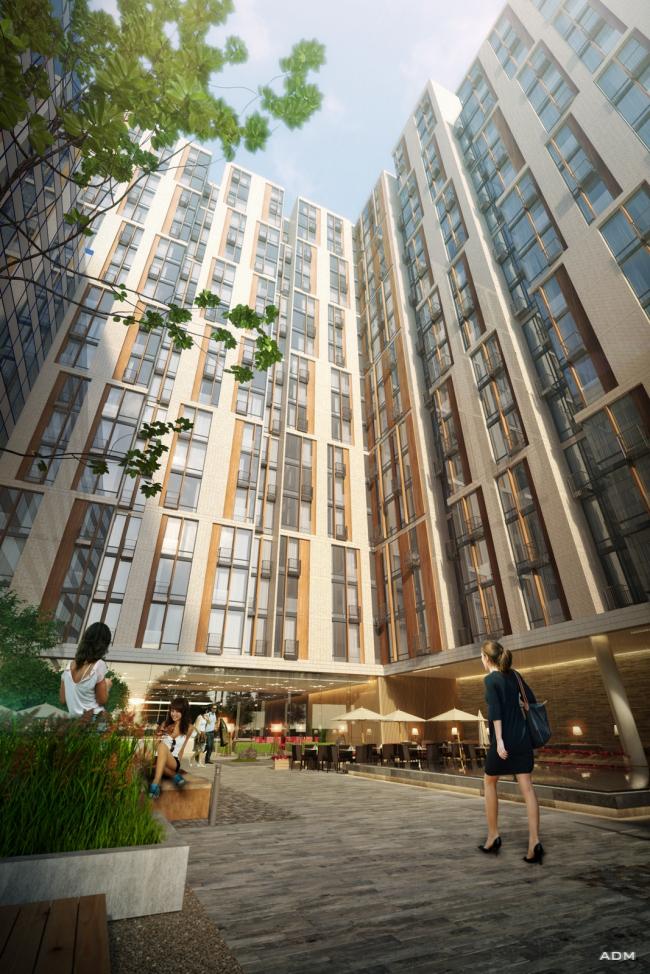 "Apartment complex ""Volga"" at the Bolshaya Spasskaya Street © ADM"