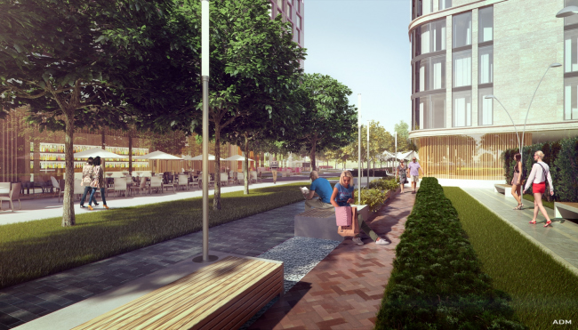 Hotel and shopping complex at the Leninsky Avenue © ADM Studio