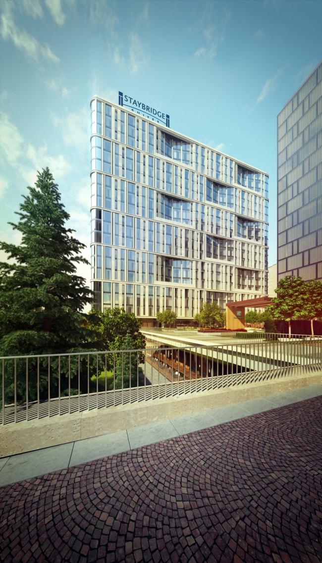 Hotel and shopping complex at the Leninsky Avenue. Staybridge Hotel © ADM Studio