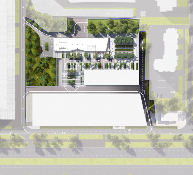 Hotel and shopping complex at the Leninsky Avenue. Master Plan © ADM Studio