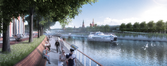 Concept of the riverfront development of the Moskva River © Turenscape International Limited