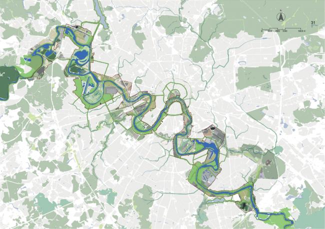 Концепция развития территорий у Москвы-реки © Turenscape International Limited