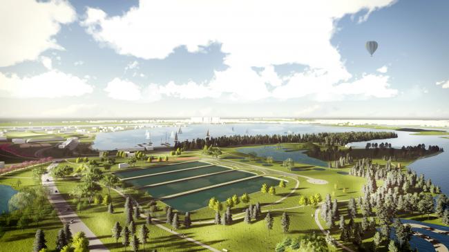 Концепция развития территорий у Москвы-реки © SWA Group
