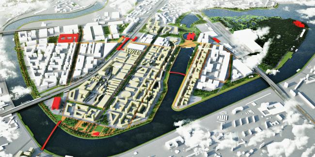 Концепция развития территорий у Москвы-реки © Maxwan + Atrium