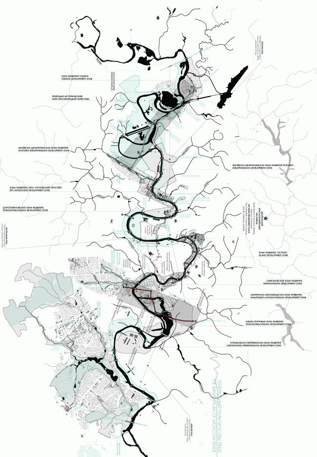 Мастер-план для реки. Концепция развития территорий у Москвы-реки © АБ Остоженка