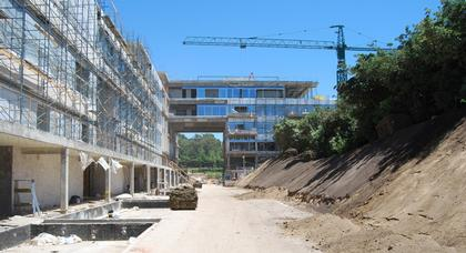 Жилой комплекс Edificio Acqua. Фото в процессе строительства