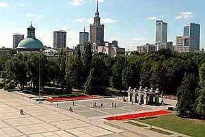 Саксонский дворец в Варшаве. Современное состояние