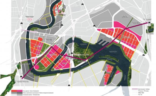 ЗИЛ. Концепция развития территорий у Москвы-реки © АБ Остоженка