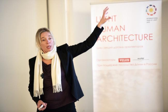 Лекция Сигне Конгебро «Дизайн со знанием. Ценность дневного света» из цикла «Свет – человек – архитектура». Фотография предоставлена компанией Velux