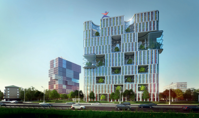"""Concepts of the HQ′s of """"Sportmaster"""" and """"O′stin"""" companies. Authors: Architectural Dialogue with the Megalopolis. Photo courtesy by the organizers"""