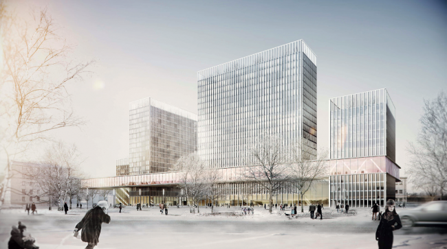 """Concepts of the HQ′s of """"Sportmaster"""" and """"O′stin"""" companies. Authors: Eller + Eller Architekten. Photo courtesy by the organizers"""