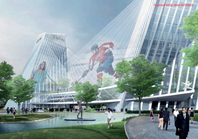 """Concepts of the HQ's of """"Sportmaster"""" and """"O'stin"""" companies. Authors: Willen Associates Architekten. Photo courtesy by the organizers"""