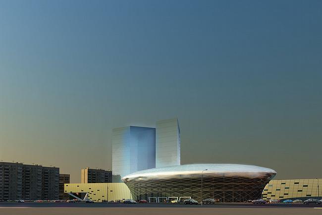 Vyacheslav Tretyak's sports school. Architectural concept.
