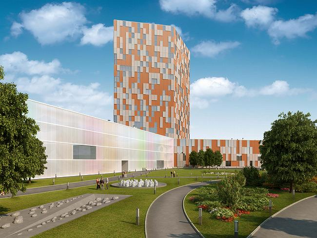 Project of territory development, Ufa. Business park with residential complex. Architectural concept