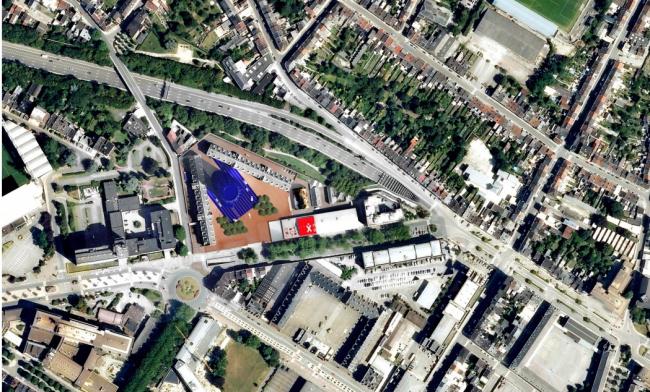 Центр танца Charleroi Danses и отделение полиции © Ateliers Jean Nouvel & MDW Architecture