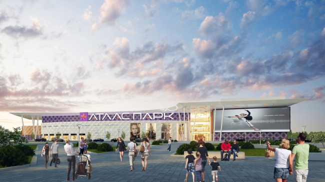 """Shopping and entertainment center """"Atlaspark"""" in Zhukovsky © UNK project"""