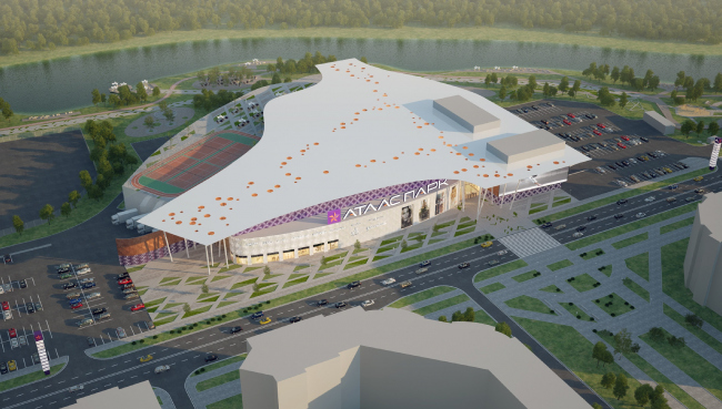 "Shopping and entertainment center ""Atlaspark"" in Zhukovsky © UNK project"