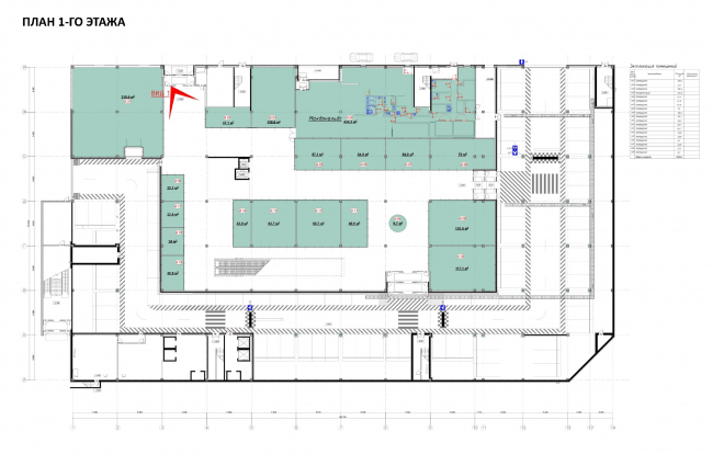 "Shopping and entertainment center ""Atlas"". Plan of the first floor © UNK project"