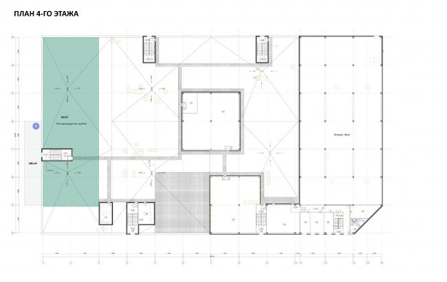 Торговый комплекс «Атлас» в Одинцово. план 4 этажа © UNK project