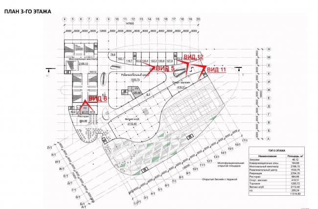Торгово-развлекательный центр «Атласпарк» в Жуковском. План 3 этажа © UNK project