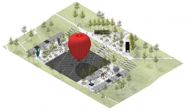 Главная площадь. Концепция развития ландшафтного парка «Митино», мастерская ландшафтного дизайна Arteza © Ландшафтная компания Arteza
