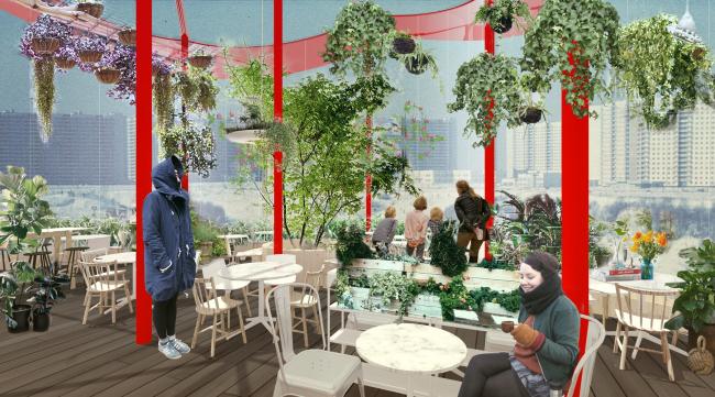 Кафе-оранжерея. Концепция развития ландшафтного парка «Митино», мастерская ландшафтного дизайна Arteza © Ландшафтная компания Arteza